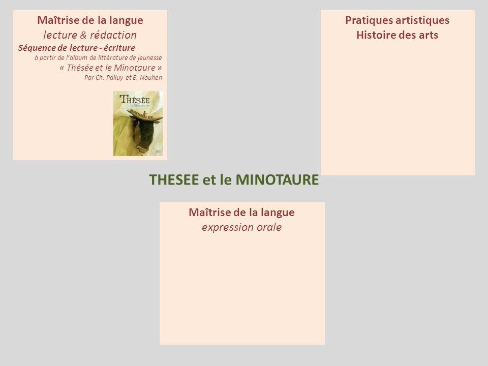 THESEE et le MINOTAURE Maîtrise de la langue expression orale Maîtrise de la langue lecture & rédaction Séquence de lecture - écriture à partir de lal