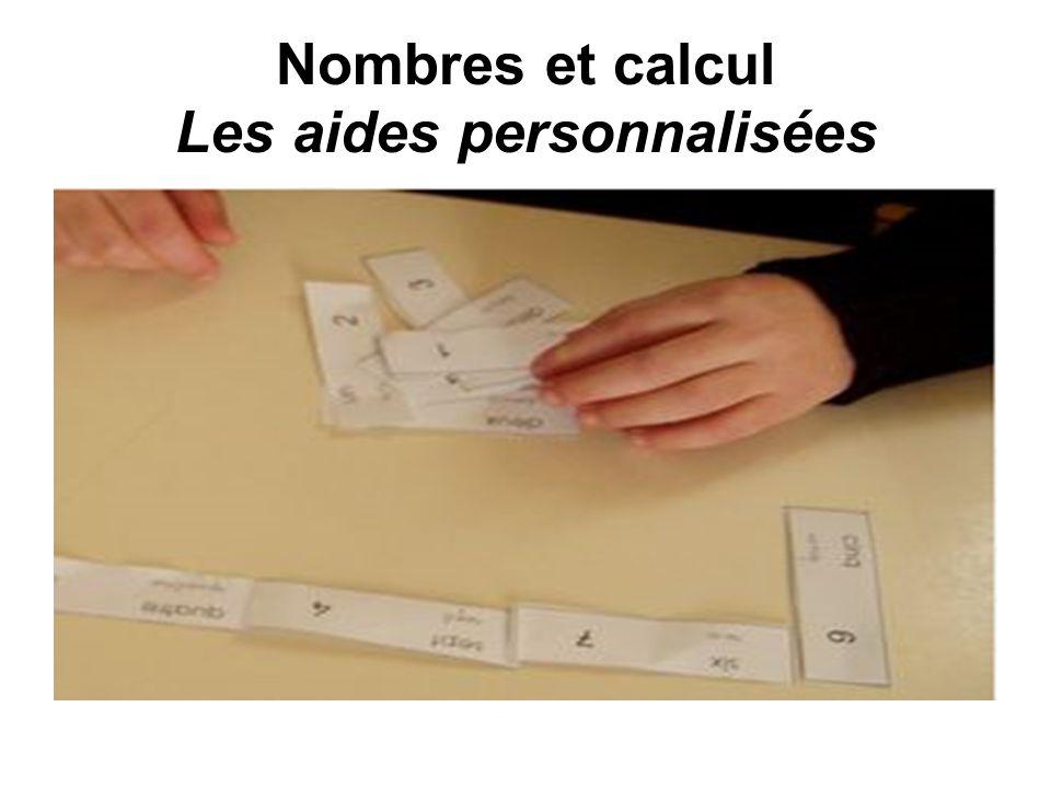 Nombres et calcul Les aides personnalisées