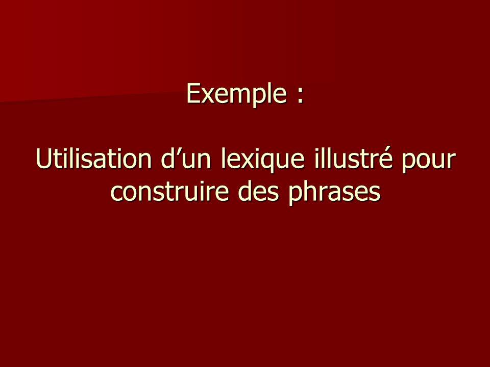 Exemples de situations Compléter/ construire ensemble une phrase Compléter/ construire ensemble une phrase Remettre une phrase dans lordre Remettre un