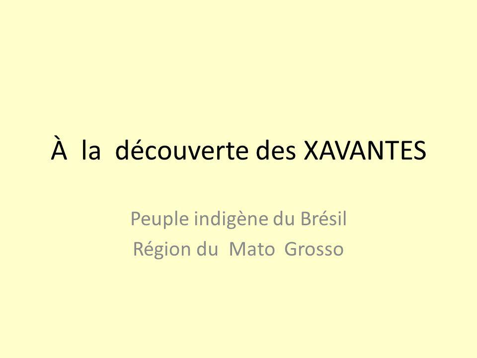 À la découverte des XAVANTES Peuple indigène du Brésil Région du Mato Grosso