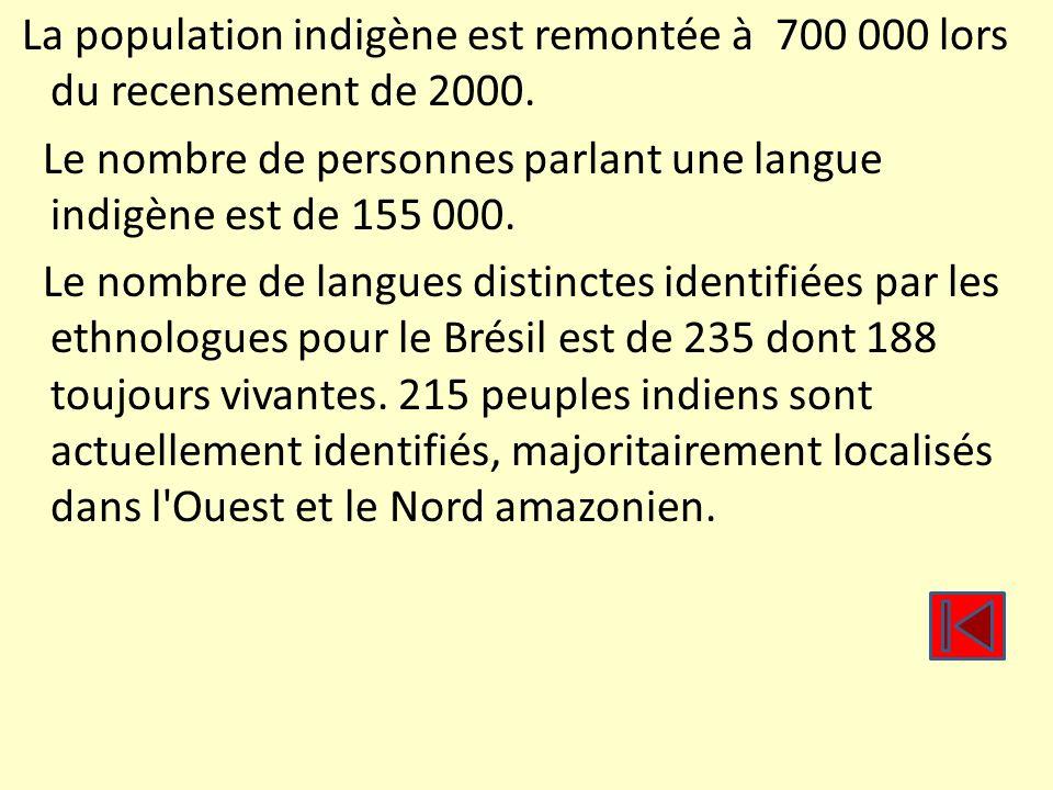 La population indigène est remontée à 700 000 lors du recensement de 2000. Le nombre de personnes parlant une langue indigène est de 155 000. Le nombr