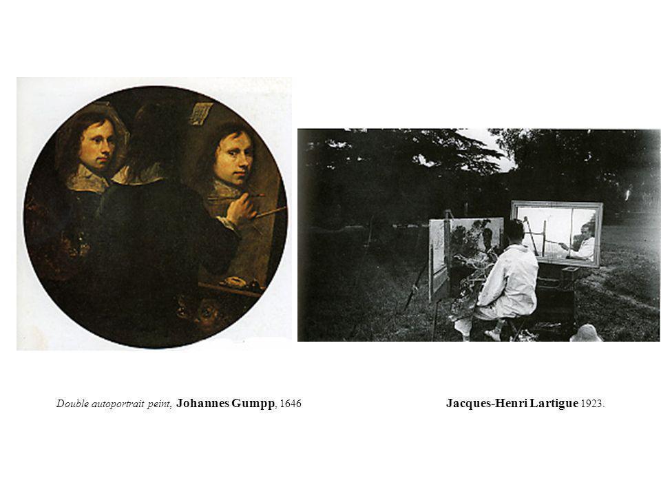 Double autoportrait peint, Johannes Gumpp, 1646 Jacques-Henri Lartigue 1923.