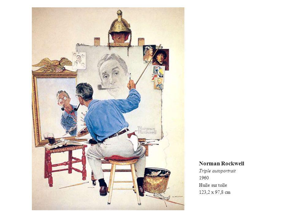 Norman Rockwell Triple autoportrait 1960 Huile sur toile 123,2 x 97,8 cm