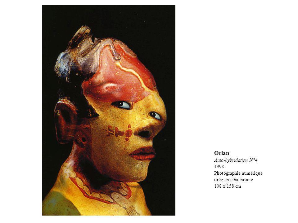 Orlan Auto-hybridation N°4 1998 Photographie numérique tirée en cibachrome 108 x 158 cm