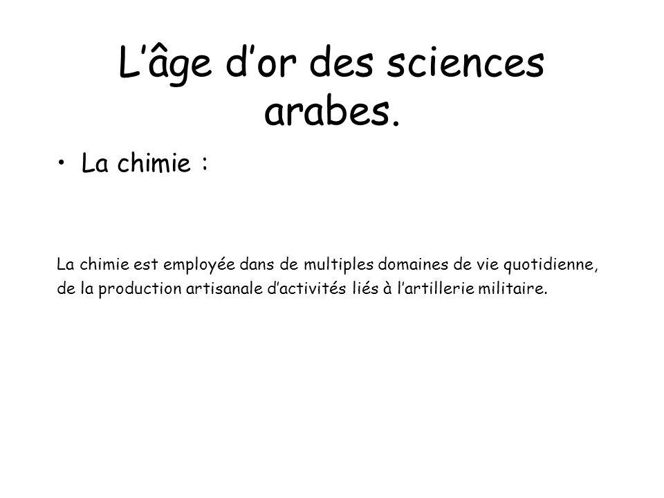 Lâge dor des sciences arabes.
