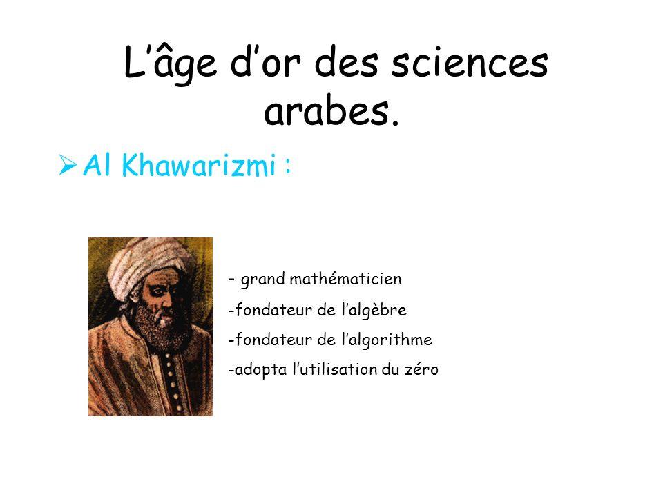 Lâge dor des sciences arabes.Abu Musa Djabir al-Sufi (721-815): Alchimiste arabe.
