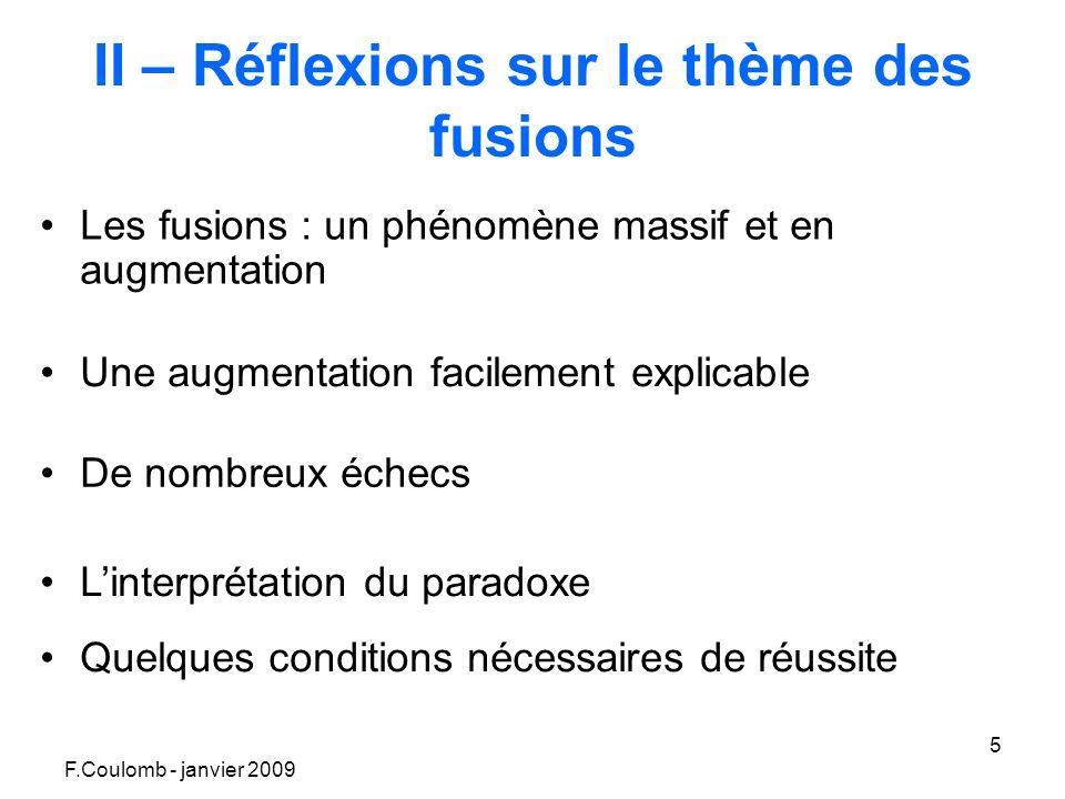 F.Coulomb - janvier 2009 16 Doc n°6 : les composantes de la RSE des entreprises R.S.E.