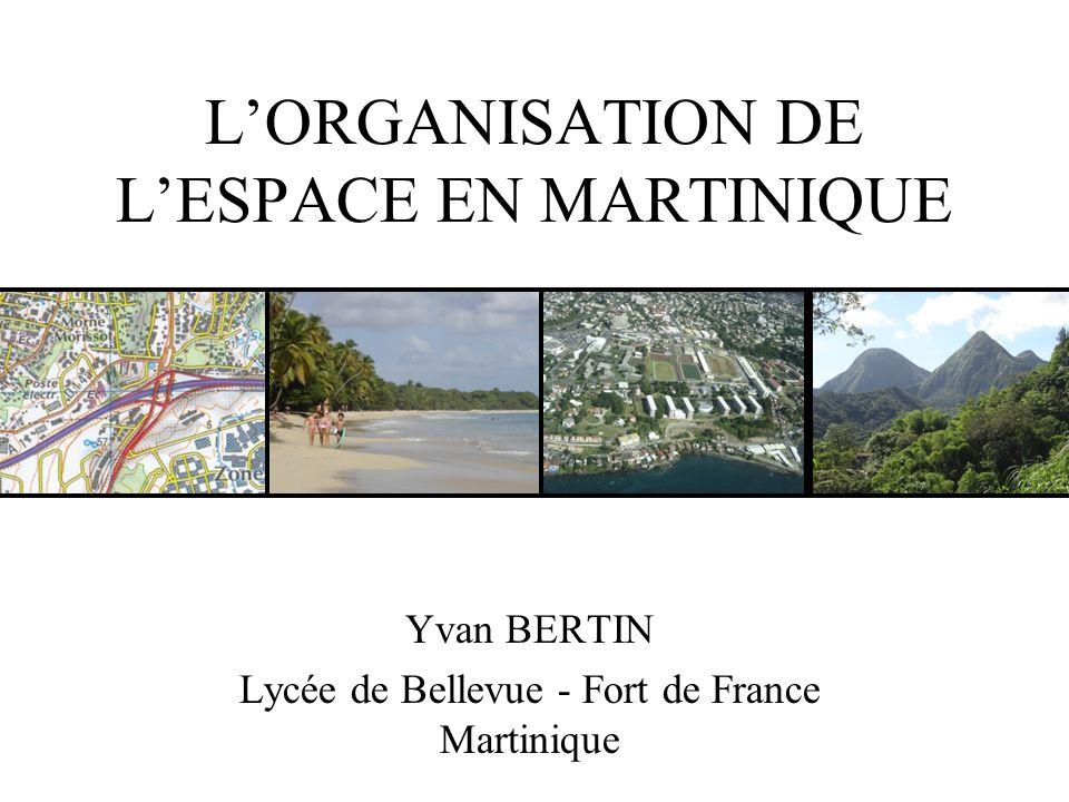LORGANISATION DE LESPACE EN MARTINIQUE Yvan BERTIN Lycée de Bellevue - Fort de France Martinique