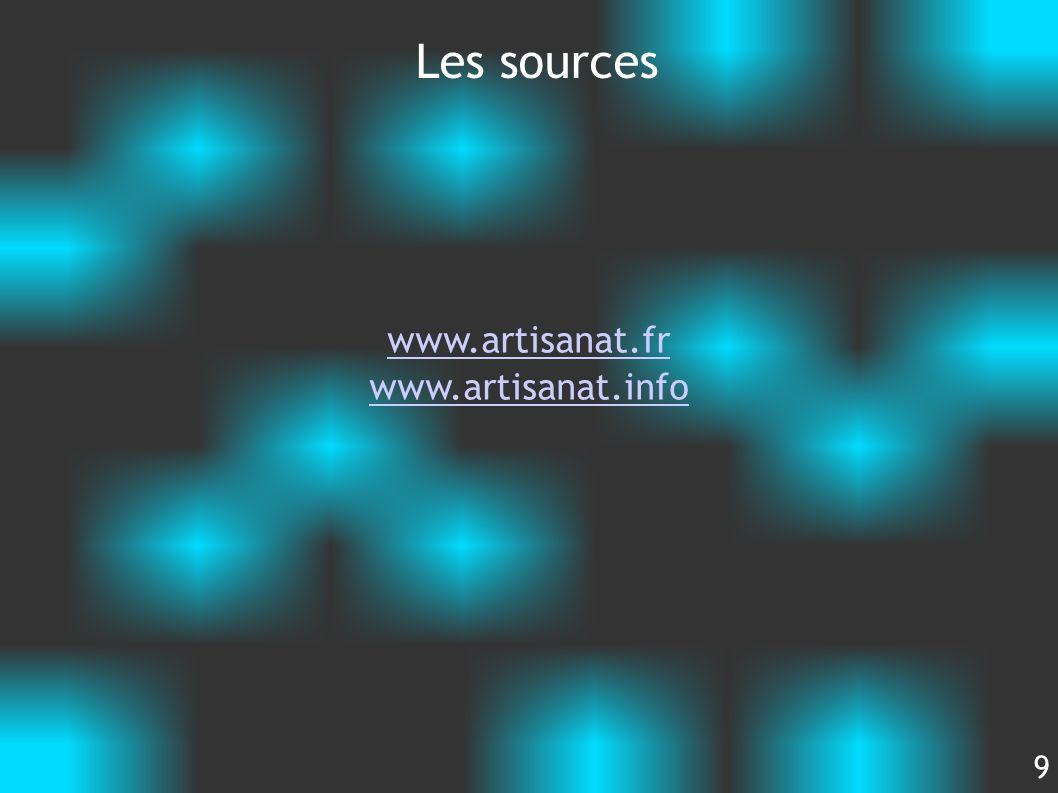 Les sources www.artisanat.fr www.artisanat.info 9