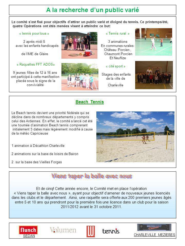 Beach Tennis Le comité sest fixé pour objectifs dattirer un public varié et éloigné du tennis.