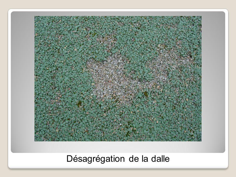 Désagrégation de la dalle