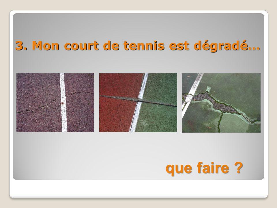 3. Mon court de tennis est dégradé… que faire ?