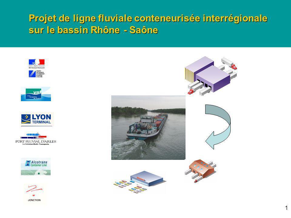 1 Projet de ligne fluviale conteneurisée interrégionale sur le bassin Rhône - Saône