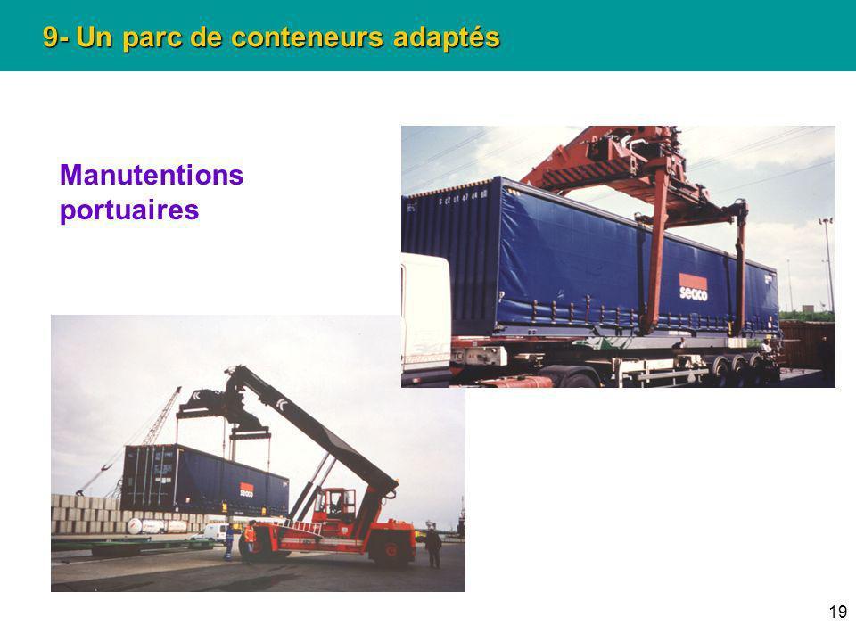 19 9- Un parc de conteneurs adaptés Manutentions portuaires