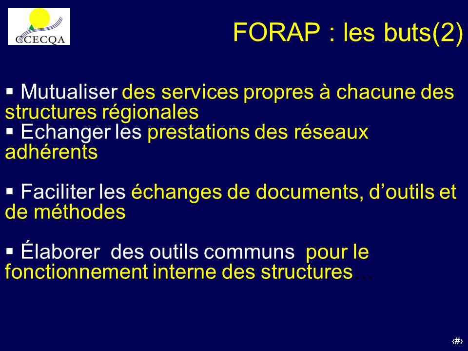 29 Mutualiser des services propres à chacune des structures régionales Echanger les prestations des réseaux adhérents Faciliter les échanges de docume