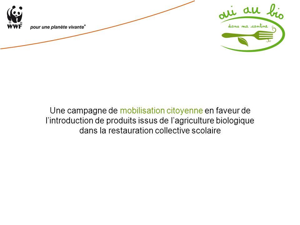 Une campagne de mobilisation citoyenne en faveur de lintroduction de produits issus de lagriculture biologique dans la restauration collective scolair