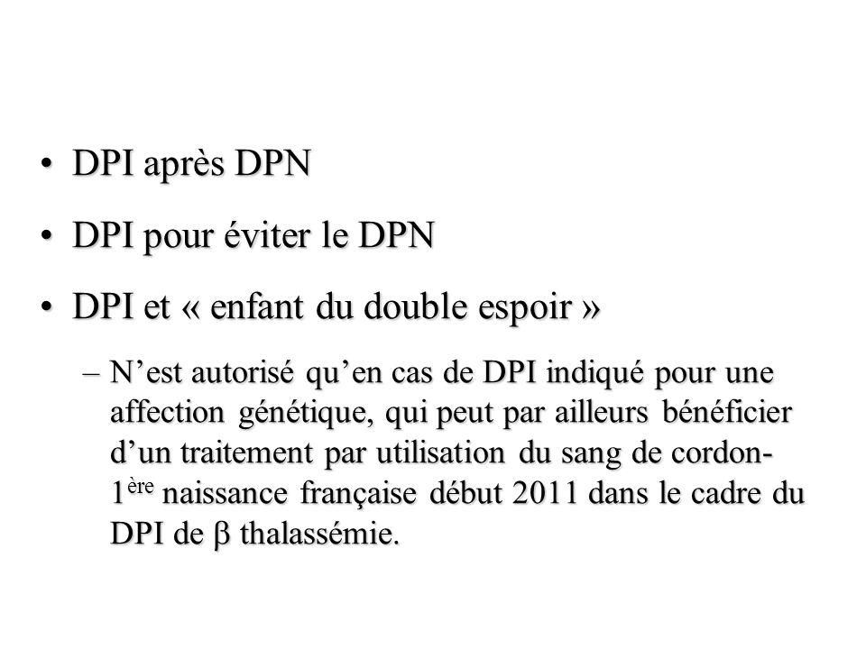 DPI après DPNDPI après DPN DPI pour éviter le DPNDPI pour éviter le DPN DPI et « enfant du double espoir »DPI et « enfant du double espoir » –Nest aut