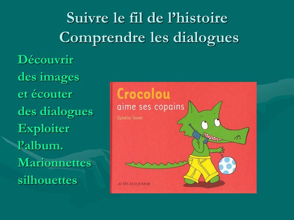 Suivre le fil de lhistoire Comprendre les dialogues Découvrir des images et écouter des dialogues Exploiterlalbum.Marionnettessilhouettes