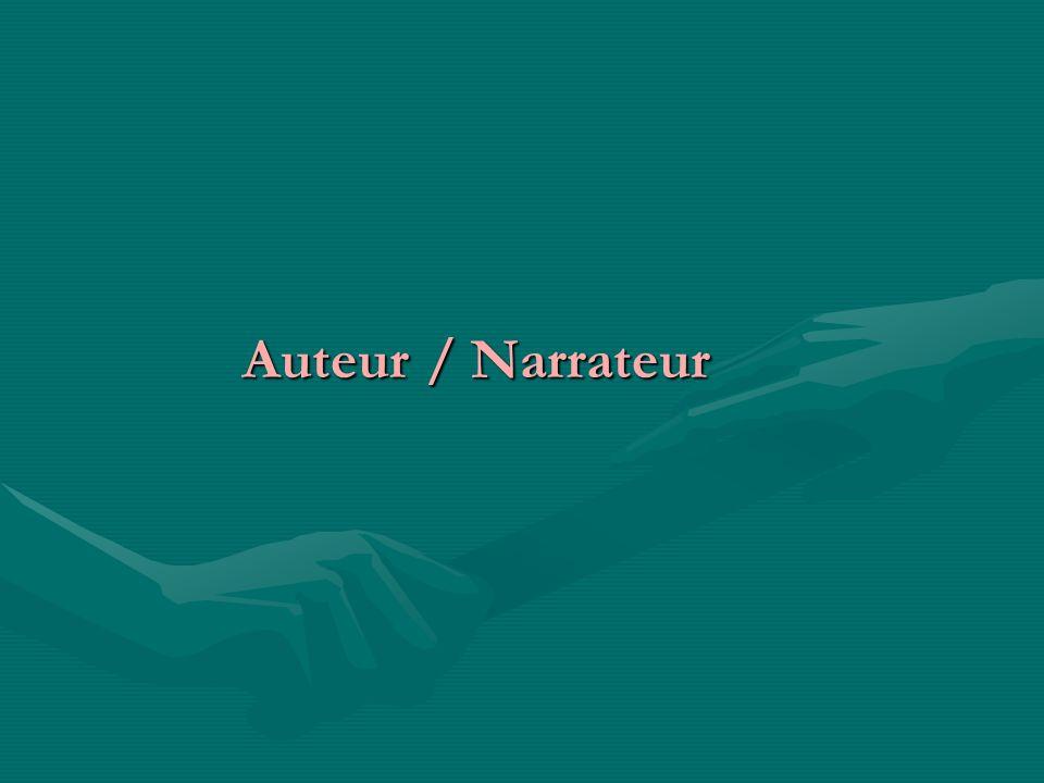 Auteur / Narrateur Auteur / Narrateur