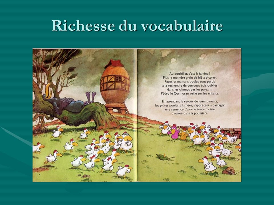 Richesse du vocabulaire