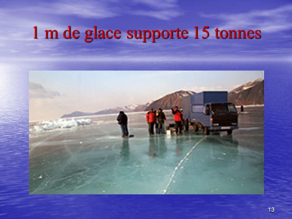 13 1 m de glace supporte 15 tonnes