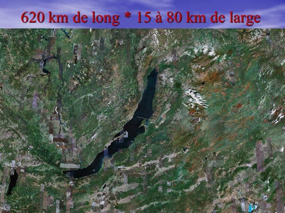 4 620 km de long * 15 à 80 km de large