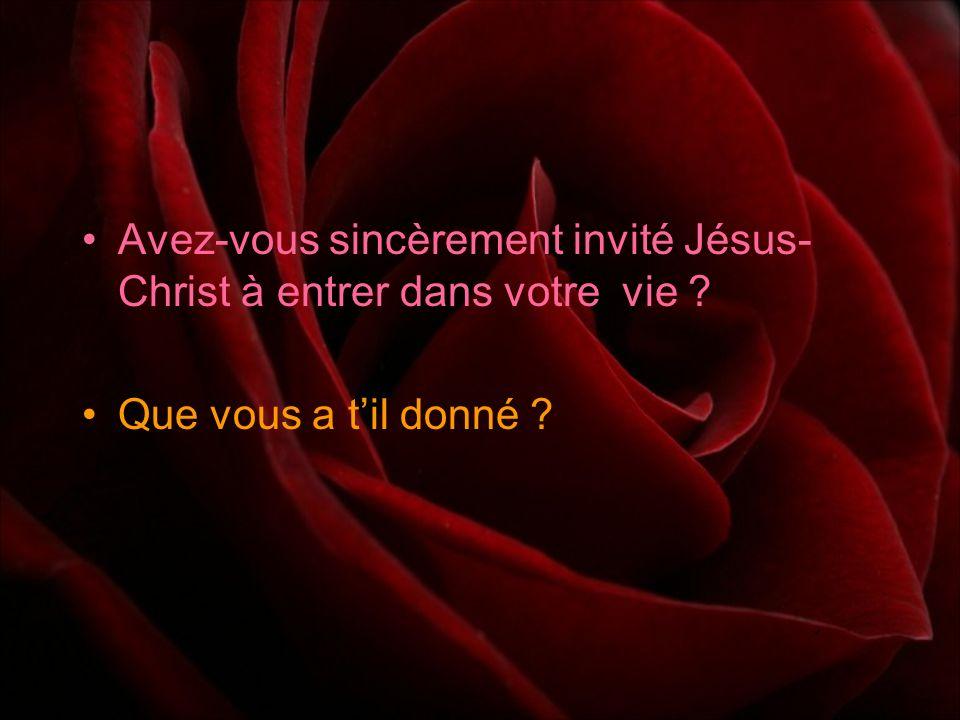 Si vous venez de faire cette prière, La bible dit : « Quiconque fera appel au nom du Seigneur sera sauvé. » Romains 10: 13 « Car cest par la grâce de