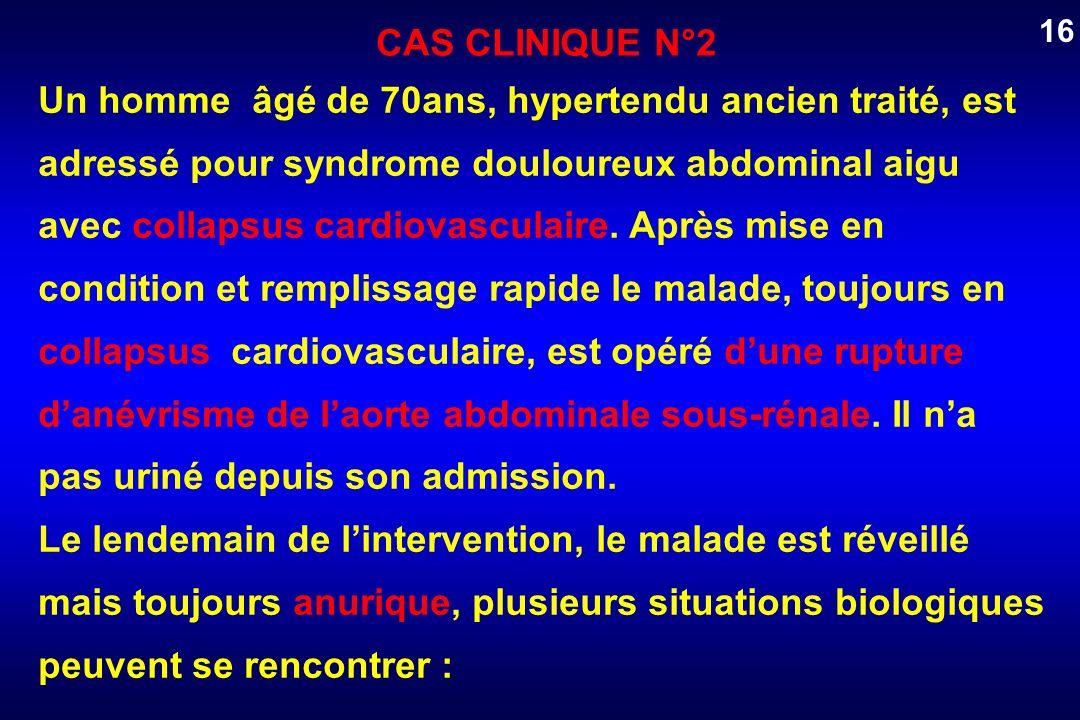 Un homme âgé de 70ans, hypertendu ancien traité, est adressé pour syndrome douloureux abdominal aigu avec collapsus cardiovasculaire. Après mise en co