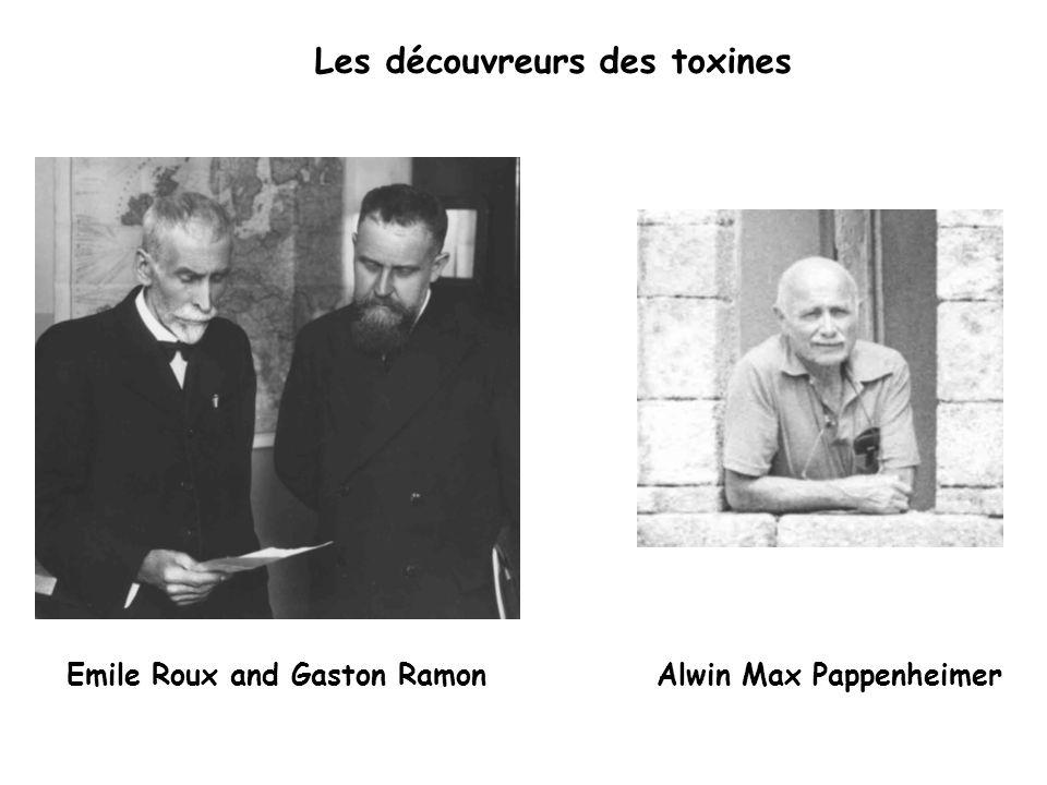 Emile Roux and Gaston RamonAlwin Max Pappenheimer Les découvreurs des toxines