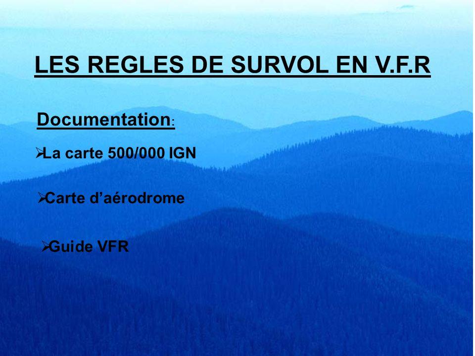 LES REGLES DE SURVOL EN VFR SEFA GRENOBLE 06 mars 2005 Copyright cg Durée 30 minutes