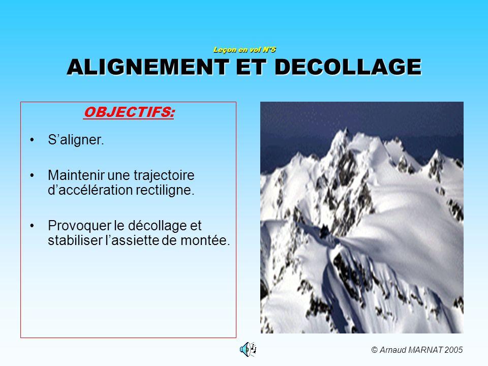Leçon en vol N°5 ALIGNEMENT ET DECOLLAGE OBJECTIFS: Saligner.