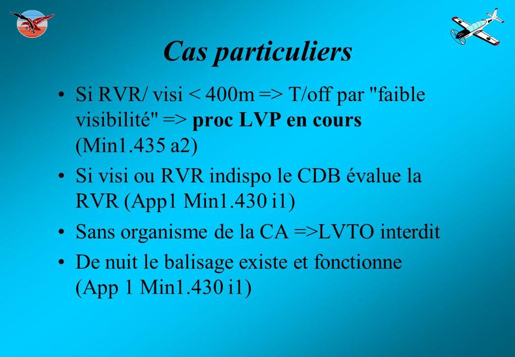 Cas particuliers Si RVR/ visi T/off par