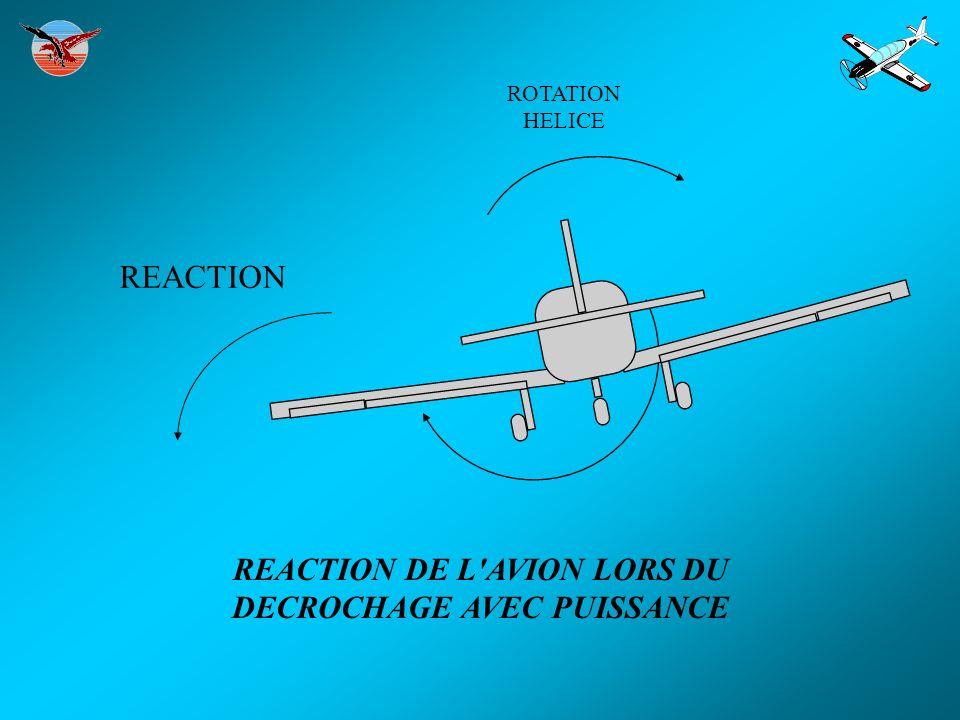 REACTION ROTATION HELICE REACTION DE L AVION LORS DU DECROCHAGE AVEC PUISSANCE