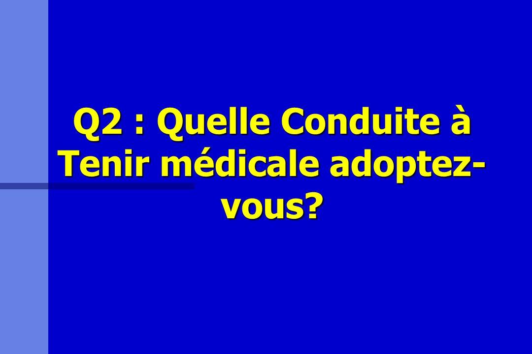 Q2 : Quelle Conduite à Tenir médicale adoptez- vous?
