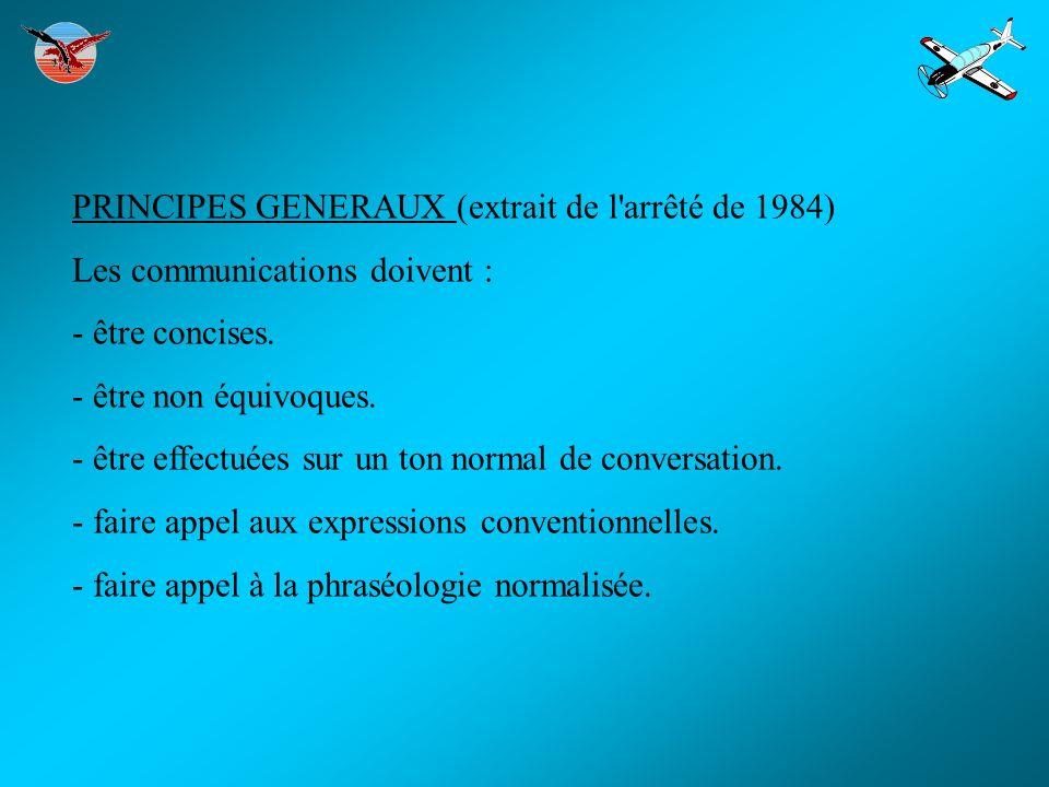PRINCIPES GENERAUX (extrait de l arrêté de 1984) Les communications doivent : - être concises.