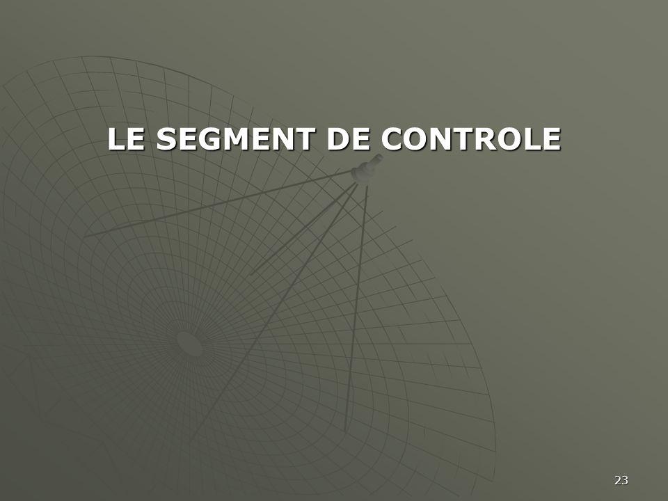 23 LE SEGMENT DE CONTROLE