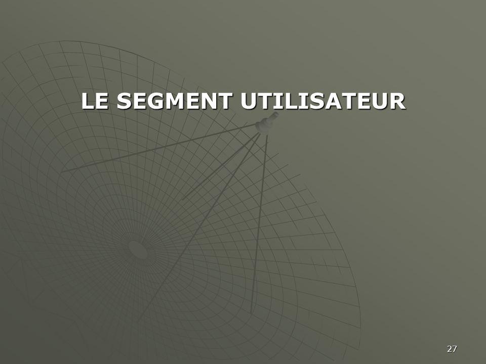 27 LE SEGMENT UTILISATEUR