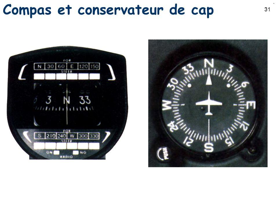 31 Compas et conservateur de cap