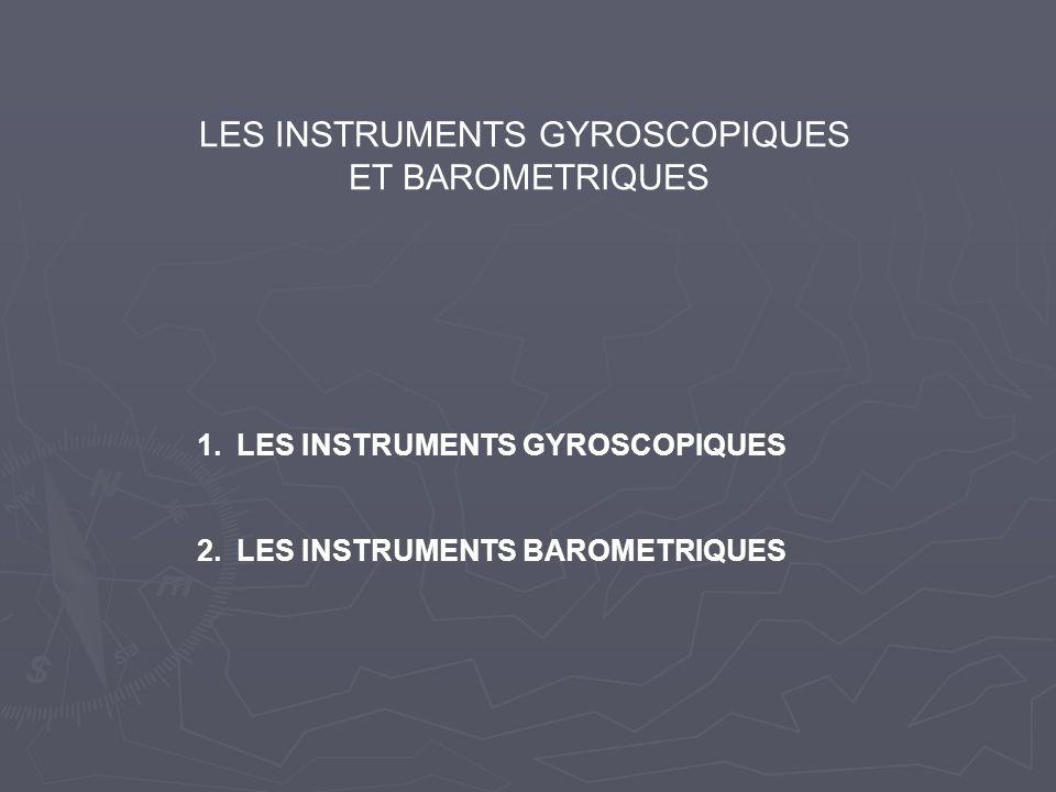 LES INSTRUMENTS GYROSCOPIQUES ET BAROMETRIQUES 1.LES INSTRUMENTS GYROSCOPIQUES 2.LES INSTRUMENTS BAROMETRIQUES