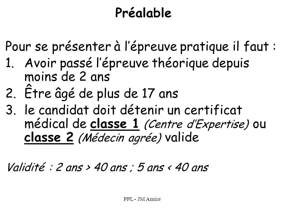 PPL - JM Amice Epreuve théorique Lépreuve théorique est un QCM à choix multiples auquel les candidats doivent répondre correctement à 75 % des questio