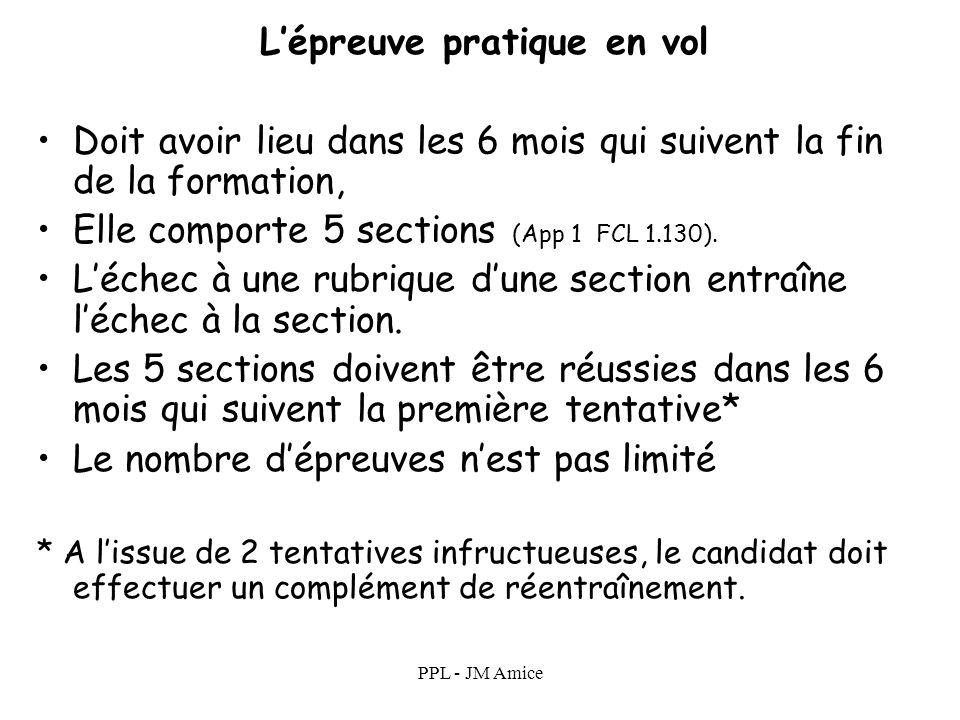 PPL - JM Amice Formation Pour se présenter à lépreuve pratique il faut en outre : Avoir reçu une instruction au sol dans un FTO ou un organisme habili