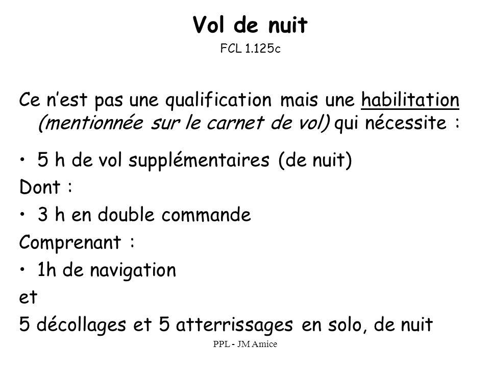 PPL - JM Amice Privilèges de la licence Une licence nest valide que si elle est associée à une qualification (SEP, SET etc.), elle même associée à un