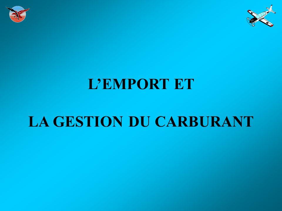 LEMPORT ET LA GESTION DU CARBURANT
