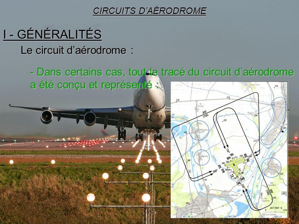 22 I - GÉNÉRALITÉS CIRCUITS DAÉRODROME Le circuit daérodrome : - Dans certains cas, tout le tracé du circuit daérodrome a été conçu et représenté :