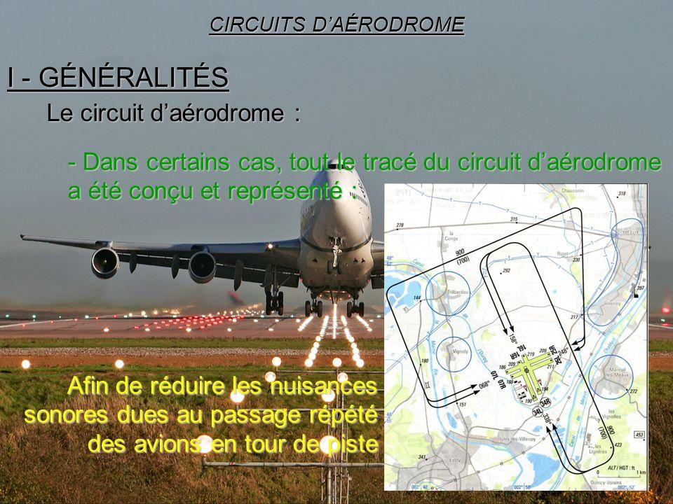 23 I - GÉNÉRALITÉS CIRCUITS DAÉRODROME Le circuit daérodrome : - Dans certains cas, tout le tracé du circuit daérodrome a été conçu et représenté : Af