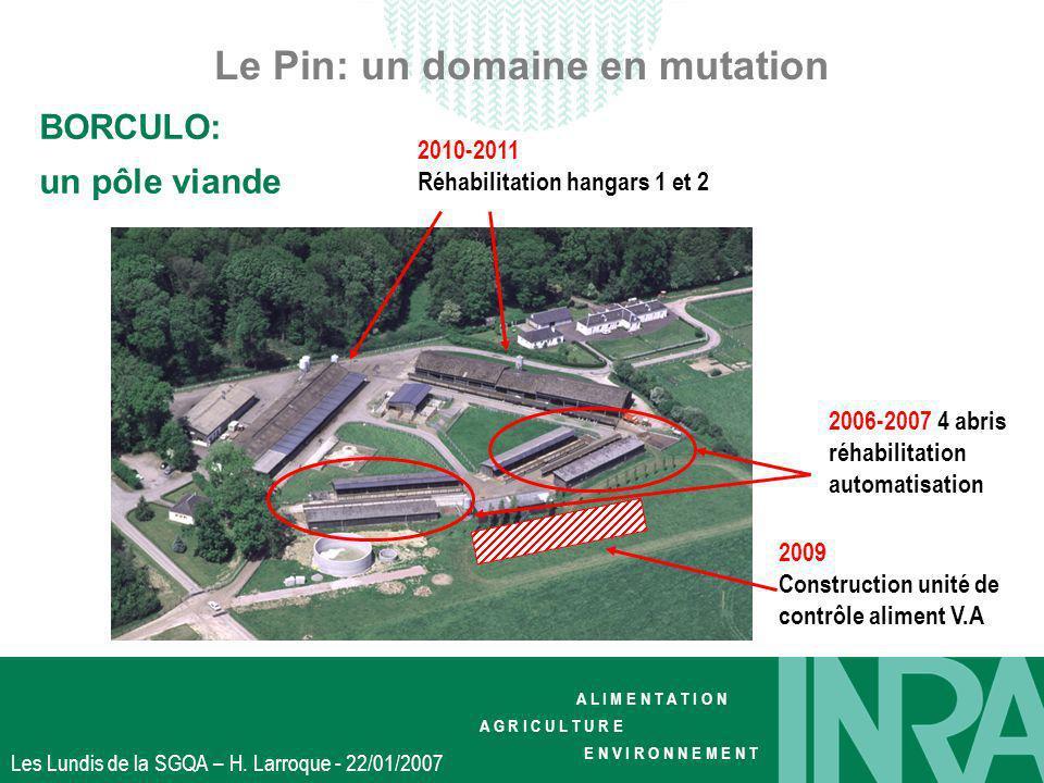 A L I M E N T A T I O N A G R I C U L T U R E E N V I R O N N E M E N T Les Lundis de la SGQA – H. Larroque - 22/01/2007 Le Pin: un domaine en mutatio