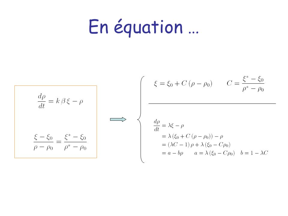 En équation …