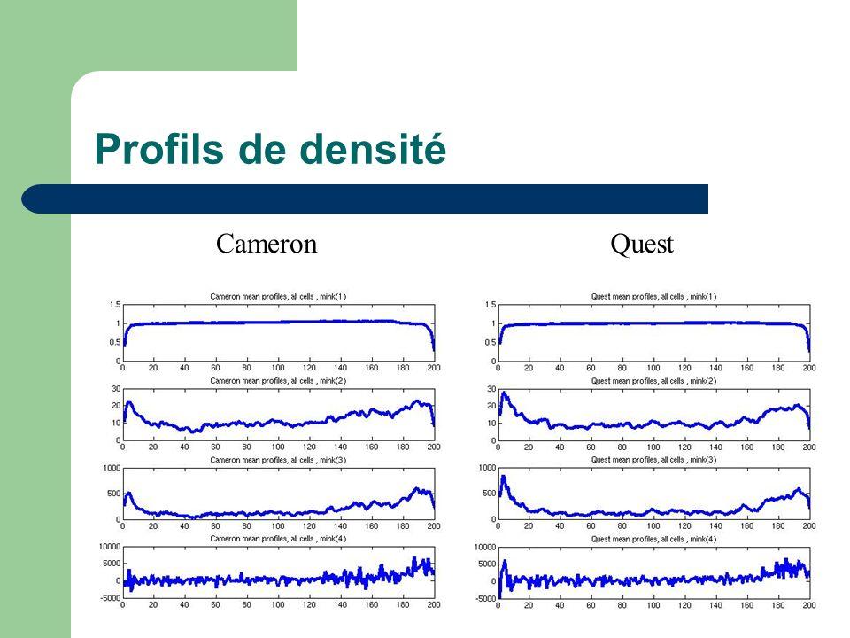 Profils de densité CameronQuest
