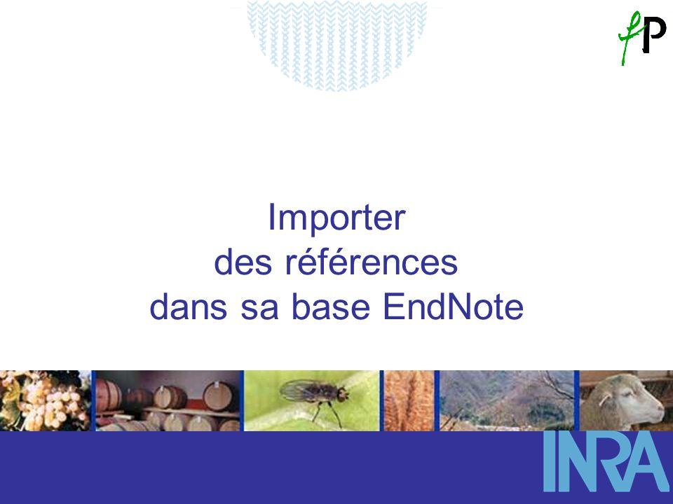 Importer des références dans sa base EndNote