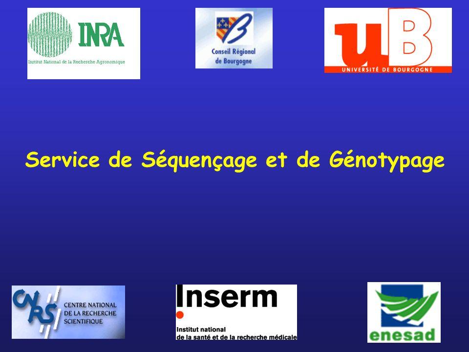 Service de Séquençage et de Génotypage